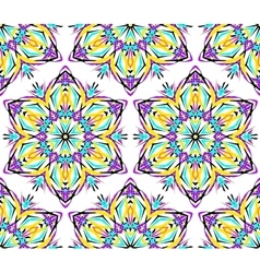 Thin Kaleidoscopic Flower Pattern vector image vector image