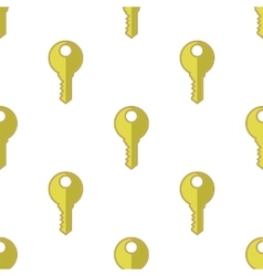 Yellow Keys Seamless Pattern vector image