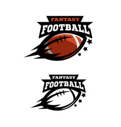 American football fantsy two options logo vector