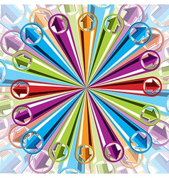 Background with arrows explosion vector image vector image