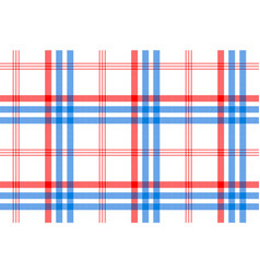 check white textile with red and blue stripes vector image vector image