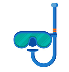 Diving mask with snorkel flat icon modern vector