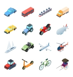 Transportation set icons in cartoon style Big vector image vector image