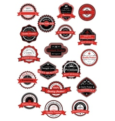 Various labels for premium quality designs vector image vector image
