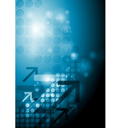 Bright hi-tech background vector image