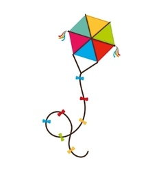 Kite wing festival fun isolated vector