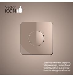 Recording Icon as a Button vector image