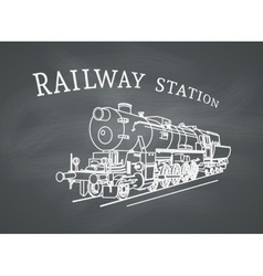 Retro Steam Locomotive vector image
