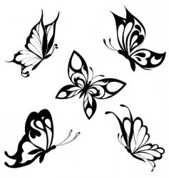 tattoo butterflies vector image