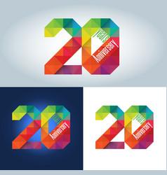 20th anniversary logo vector