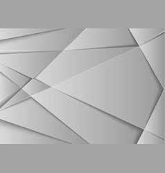 abstract gray metallic geometric background vector image
