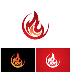 Abstract round fire flame vector