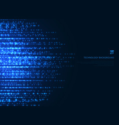 Abstract technology blue magic sparkling glitter vector