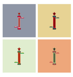 Amusement park circus attraction collection vector