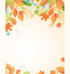 autumn frame from yellow orange red leaves vector image