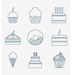 Bakery set icons design vector