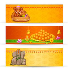 Banner for ganesh chaturthi vector