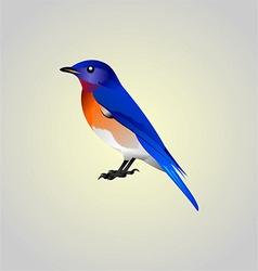 blue birdy vector image