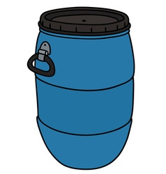 Blue plastic barrel vector