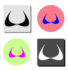 bra flat icon vector image
