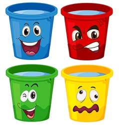 Buckets with faces vector