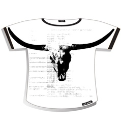 Bull t shirt vector