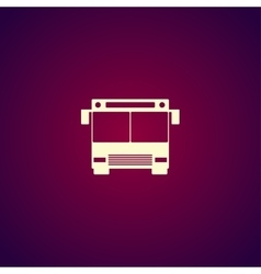 Bus icon Flat design style vector image