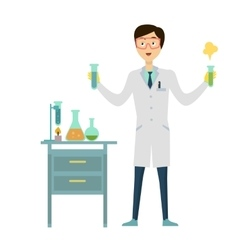 Chemistry Banner Concept Flat Style vector