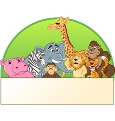 cute animals cartoon group vector image vector image