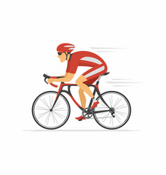 cycling - modern colorful cartoon character vector image