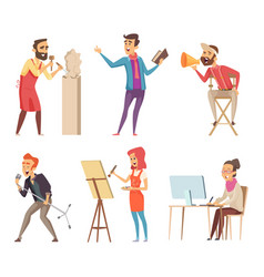 Different characters of creative professions vector