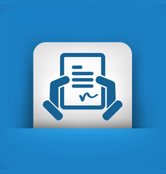 Document signature icon vector