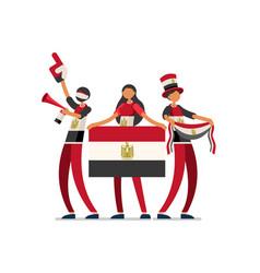 Egyptian with egypt flag symbol vector