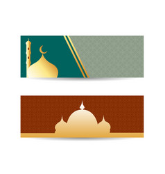 eid mubarak design background for greeting card vector image