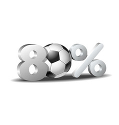 eighty percent discount icon vector image