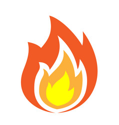 fire flames icon isolated vector image