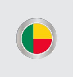Flag benin is horizontally isolated vector