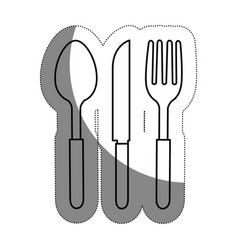 Fork knife and spoon icon vector