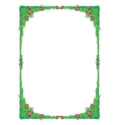 frame tree green vector image