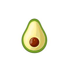 fresh juicy vegetable - avocado icon vector image