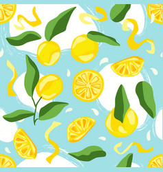 fruit seamless pattern summer background vector image