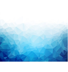 Geometric blue ice texture background vector
