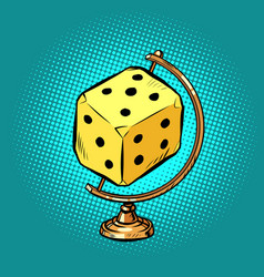 globe international casino dice or table games vector image