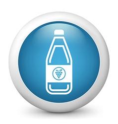 Grape Juice glossy icon vector image vector image