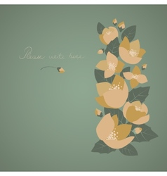 Greeting card with beautiful flowers vector image vector image