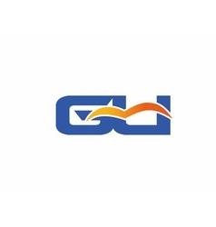 Gu letter logo vector