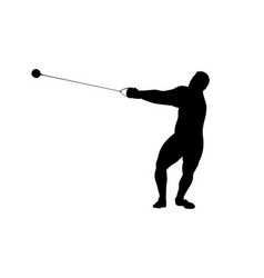 Hammer throw male athlete vector