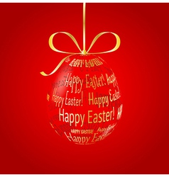 Hanging glass egg made of Happy Easter vector