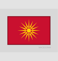 Historical flag of republic of macedonia national vector