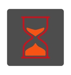 Hourglass Rounded Square Button vector image